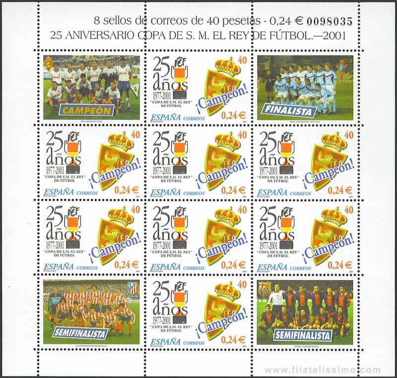 2001 Espana 25 Anos Copa Del Rey