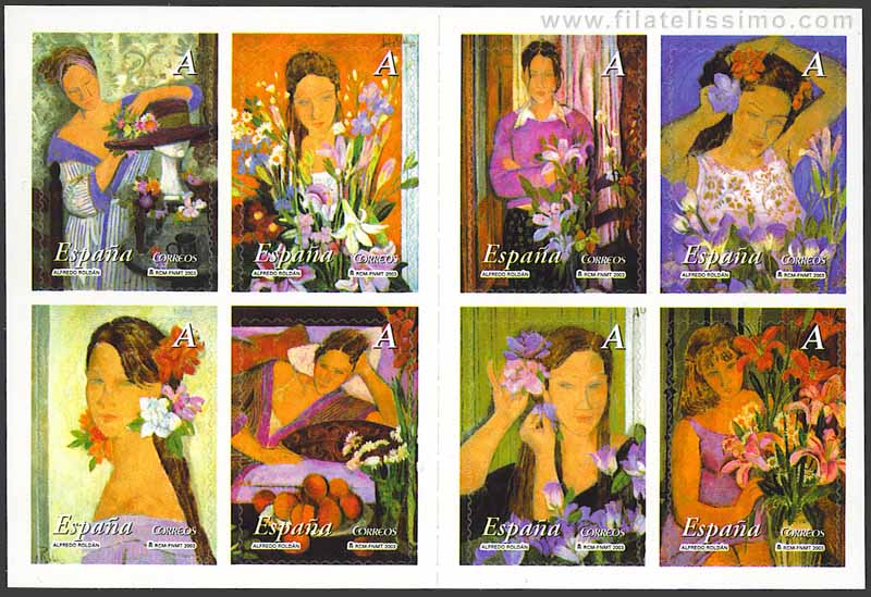 La mujer y las flores.