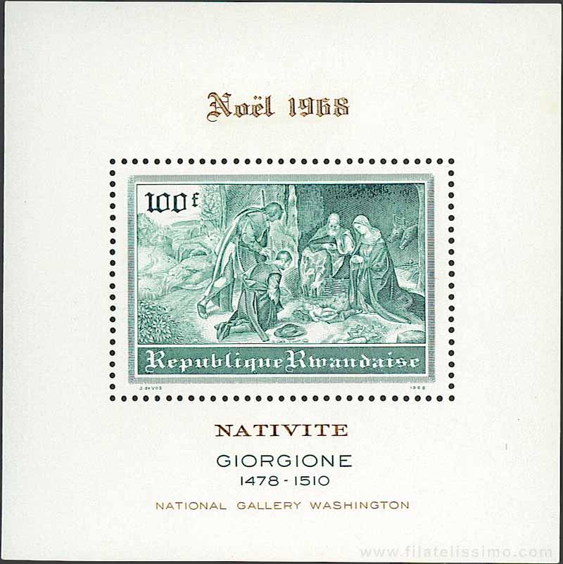 1968 Ruanda Navidad