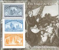 Colón avistando tierra.