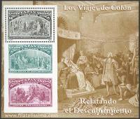 Colón presentando a los nativos ante los Reyes Católicos.