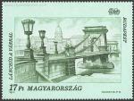 Puente de las cadenas sobre el Danubio.