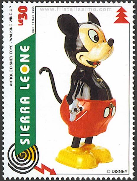 1995 Sierra Leona Juguetes Disney 30c