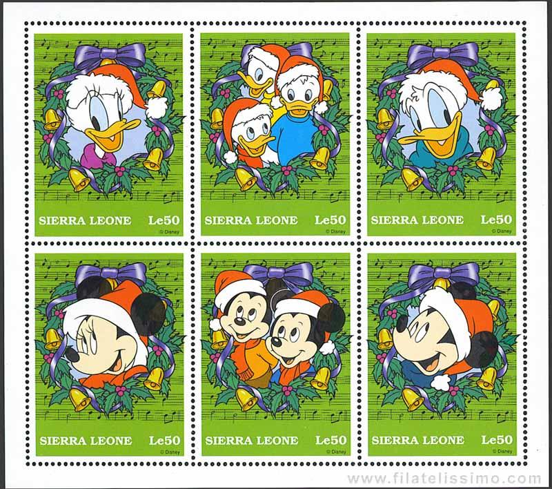 1997 Sierra Leona Navidad Disney