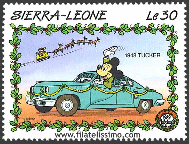 1989 Sierra Leona Disney Navidad 30