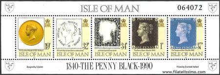 150º Aniversario del primer Sello; Penny Black.