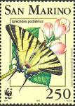 Iphiclides podalirius.