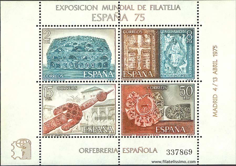 1975 Espana Orfebreria Hb01