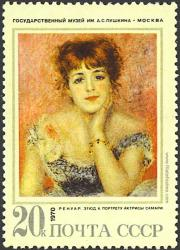 Retrato de Jeanne Samary, Renoir.