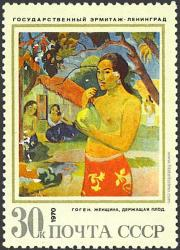 Mujer y fruta, Gauguin.