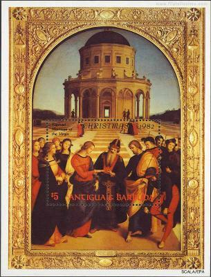 Los desposorios de la Virgen, Rafael Sanzio.