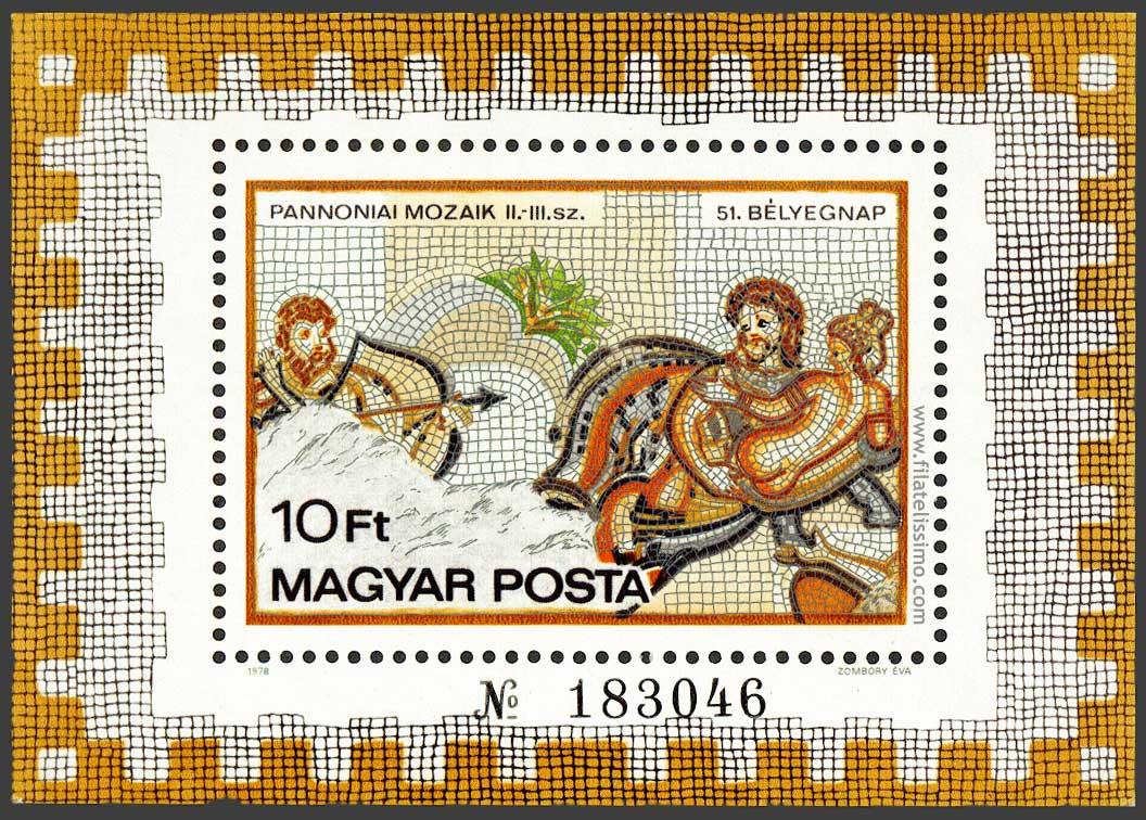 1978 Hungria Mosaico Hb