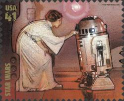 Princesa Leia Organa con R2-D2