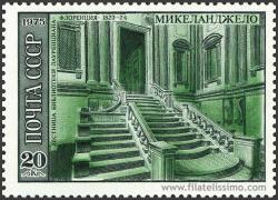 Escalera de la biblioteca Laurenciana