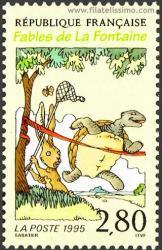 La liebre y la tortuga.