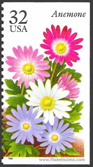1996 Usa Flores Sellos05