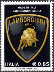 Lamborghini Miura en Sellos