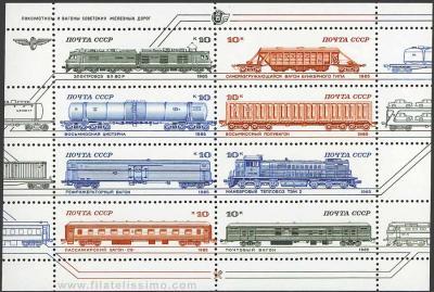 Trenes y vagones Soviéticos