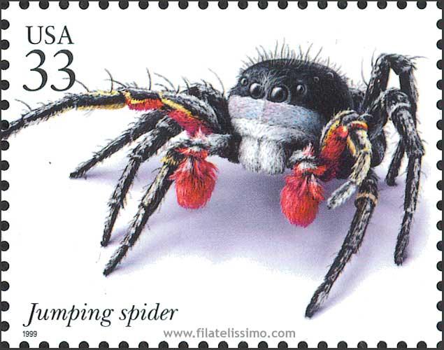 1999 Usa Insectos Aranas Sellos 20
