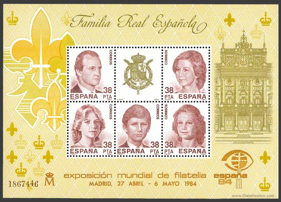 1984 Esp Familia Real Hb