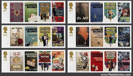 James Bond 007 en Sellos