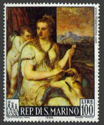Venus vendando a Cupido
