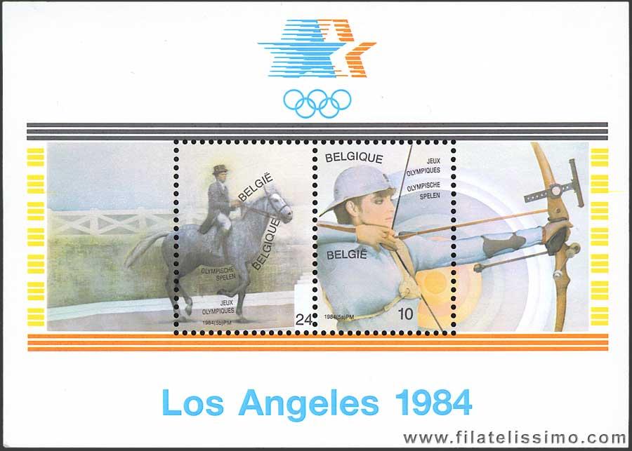 Sellos Juegos Olimpicos Los Angeles 1984