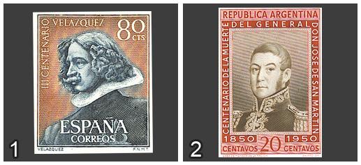 Diego Velázquez vs José de San Martin. ¿Qué sello es más Bello?