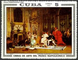Napoleón planeando la ceremonia de la coronación, J. G. Vibert