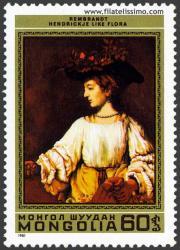 Hendrickje como Flora. Rembrandt