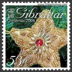 Estrella dorada navideña