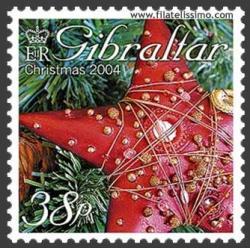 Estrella roja navideña