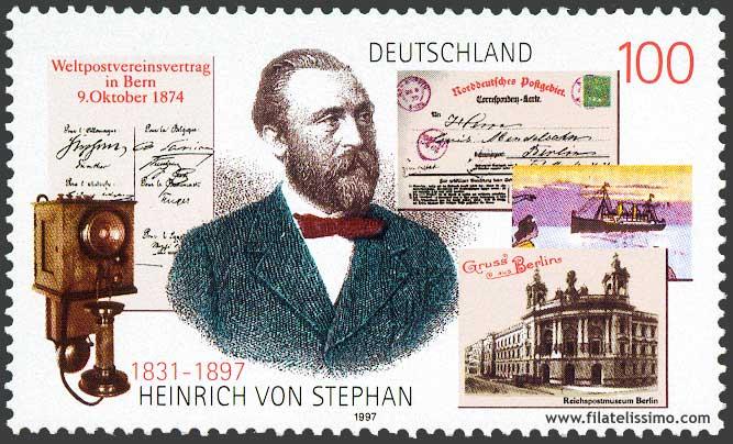 Tarjeta Postal Heinrich Von Stephan