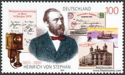 Heinrich von Stephan, Tarjeta Postal