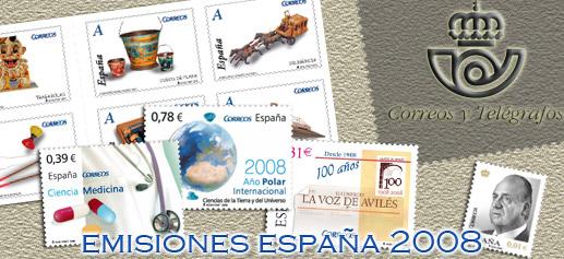 Programa España 2008 emisiones filatélicas