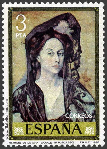 Pablo Ruiz Picasso Retrato De La Senora Canals