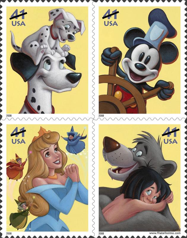 Personajes Disney Sellos Filatelia