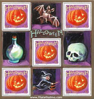 Halloween Calabaza Filatelia