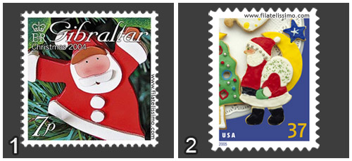 Adorno Navidad Papa Noel Vs Galleta Jengibre Santa Claus