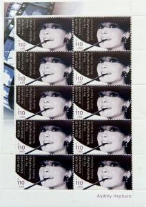 Venden unos sellos de Audrey Hepburn por 430.000 euros