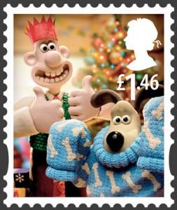 Sellos Navideños de Wallace and Gromit de la Royal Mail