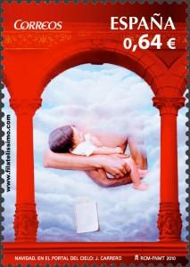 "Sellos Navidad ""En el portal del cielo"" J. Carrero (Enrique Jiménez Carrero)"
