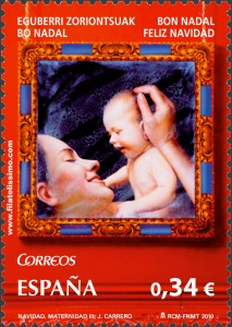 """Sellos Navidad """"Maternidad III"""" J. Carrero (Enrique Jiménez Carrero)"""