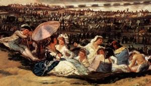 Pinturas de Goya, La pradera de San Isidro (fragmento).