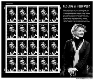 Hoja Bloque Katharine Hepburn de USA