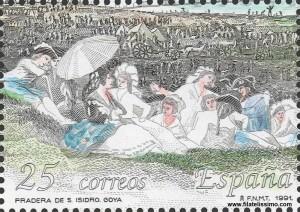 Pinturas de Goya, La pradera de San Isidro. Sello