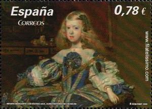 Pinturas de Velázquez, La Infanta Margarita con vestido azul