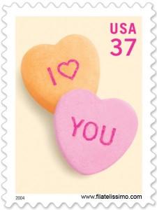Sello San Valentín de Estados Unidos