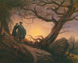 Caspar David Friedrich, Dos hombres contemplando la luna (cuadro).