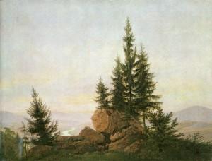 Caspar David Friedrich, Vista del valle del Elba (cuadro).